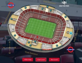 vFloorplan 3D Stadium - Club and Box Levels